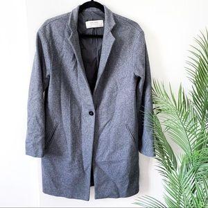 Zara | oversized gray pea coat